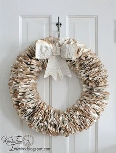 I have pages from old books coming out my ears, so in my quest to use of some of them, I created 2 wreaths from some antique German pages. One is attached to a…