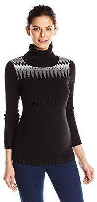 Mothers en Vogue Women's Maternity Fairisle Nursing Sweater - Shop for women's Sweater - Black Sweater