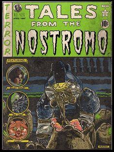 Ec Comics, Horror Comics, Horror Icons, Horror Movie Posters, Comic Book Characters, Comic Books Art, Alien Photos, Dark Comics, Horror Artwork