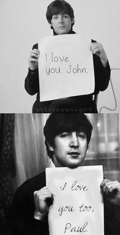 Paul McCartney, John Lennon. They'd better use the hologram at bonnaroo for this pair!!! <3