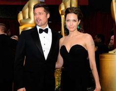 Angelina Jolie & Brad Pitt Keep It Black, Simple & Elegant #redcarpet #fashion trendhunter.com