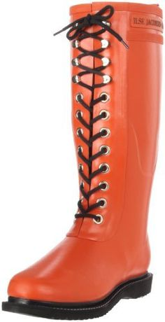 $75, Ilse Jacobsen Rub 1 Rain Boot. Sold by Amazon.com. Click for more info: https://lookastic.com/women/shop_items/146668/redirect
