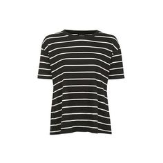 TopShop Tall Stripe Tie Back T-Shirt (€31) ❤ liked on Polyvore featuring tops, t-shirts, navy blue, tie back top, cut out top, cut out t shirts, cutout tops and striped top