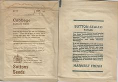 The History of the Seed Packet