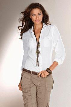 Women'S White Blouse Australia 36