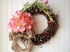 Wreath for springspring wreathsspring floral by YourHandmadeWreath, $50.00