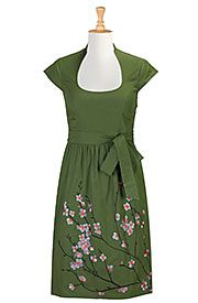 Floral embellished A-line poplin dress Get Super Saving discounts at eShakti with Coupon and Promo Codes.