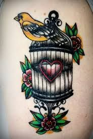 Image result for birdcage tattoo design
