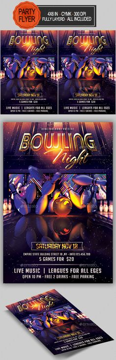 Night Race Flyer Template Night, Flyer template and Flyers - bowling flyer template