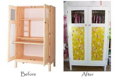ikea husar cabinet - white paint job. could do this to mine.