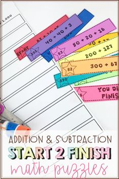 Are you looking for some self-checking math centers that will give your students extra math practice with adding and subtracting within Check out this engaging math activity to help you do just that! Subtraction Strategies, Math Strategies, Upper Elementary Resources, Elementary Math, Teaching Writing, Teaching Tips, Math Fact Fluency, Nonsense Words, Teacher Lesson Plans