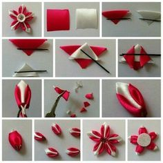 """Most current Cost-Free fabric Ribbon Flower Ideas I could quickly get known as this kind of article methods to create ribbon flowers"""" – the Ribbon Art, Diy Ribbon, Fabric Ribbon, Ribbon Crafts, Flower Crafts, Diy Crafts, Kanzashi Tutorial, Ribbon Flower Tutorial, Cloth Flowers"""