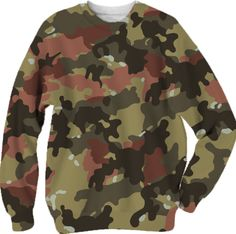 Military Camouflage Khaki sweatshirt from Print All Over Me
