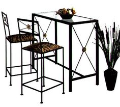 Grace Mfg Wrought Iron Neoclassic Bars / Counter - Barstools - Kitchen Counter Stools