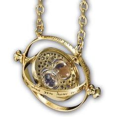 "Time Turner necklace   ""I mark the hours, every one.  Nor Have I yet outrun the sun.  My use and value unto you, are gauged by what you have to do."""