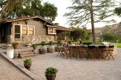 "Quaint Patio Space at this rustic winery in Southern California. The perfect wedding venue for your Orange County ""I Do's"""