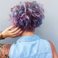 Short Curly Hair - 7 http://coffeespoonslytherin.tumblr.com/post/157379934422/trendy-short-curly-hairstyles-2017-short
