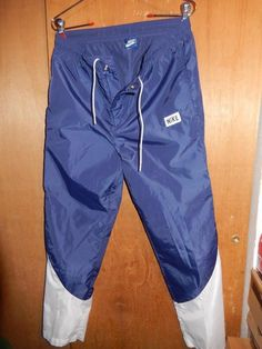 3f39bc306a2a5 VTG 1986 Nike Dome Logo Athletic Track Basketball Pants Running Gym Blue  Tag  Nike  Pants