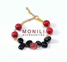Red Rose Bracelet by Monili