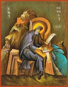 Macarius of Corinth Russian Orthodox icon Byzantine Icons, Byzantine Art, Religious Icons, Religious Art, Faith Of Our Fathers, Lives Of The Saints, Albrecht Durer, Orthodox Icons, Angel Art