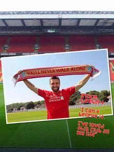 Welcome home Rickie Lambert Liverpool Players, Liverpool Fc, Rickie Lambert, You'll Never Walk Alone, Best Football Team, Walking Alone, My Love, My Boo