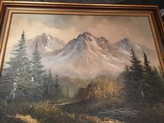 "Mount Katahdin  by David Little original Oil on Canvas image 16"" x 20"" Framed by USANOW on Etsy"
