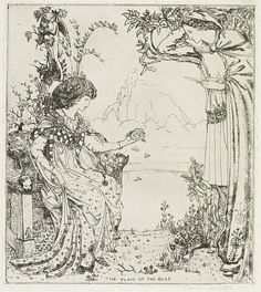 The Marsh Kings Daughter Hans Andersens Fairy Tales Illustration By Cecile Walton
