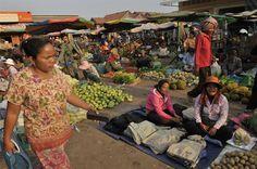 Market, Kampong Thom province - Cambodia