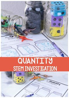 Your budding scientist will love this simple quantity STEM investigation. Perfect for preschoolers and kindergarteners this open-ended experiment will give kids practice counting and comparing numbers #preschoolSTEM #STEMexperiment #preschoolmath via Kim- Life Over C\'s