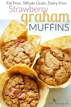 Fat Free Strawberry Graham Muffins - OwlbBaking.com