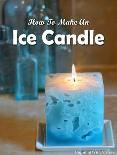 Diy Candles Ideas DIY Ice Candle – Ice Candles are amazing to look at and even more fun to make. You pour hot wax right over ice cubes! The ice melts away and leaves holes inside the candle. -Read More – Diy Candles Easy, Homemade Candles, Scented Candles, Pillar Candles, Making Candles, Diy Candles To Sell, Beeswax Candles, Diy Candle Ideas, Outdoor Candles