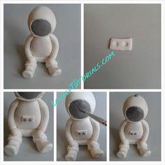 Astronaut (cosmonaut) cake topper tutorial how to make
