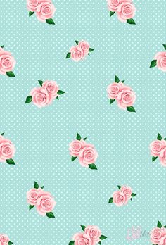 iPhone Wallpaper Roses & Polka Dots.