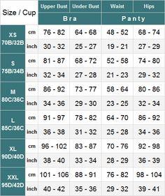 Lace Women S Y Sets Bra Bralettes Size Chart Zorket