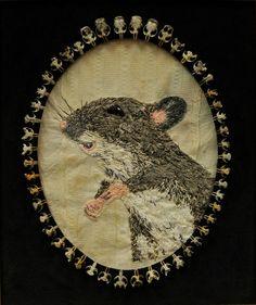 Textile Artist Jo Smith Stitch Mouse Portrait Jo Smith interview: Kids, cats and mayhem