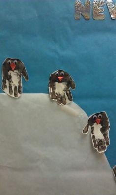 Handprint penguins