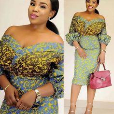 Ready To Be Admired in These Fabulous Short Ankara Gown Styles. Ready To Be Admired in These Fabulous Short Ankara Gown Styles Ankara Tops, Short Ankara Dresses, Ankara Dress Styles, Short Gowns, African Print Dresses, African Dress, Ankara Blouse, Blouse Styles, African Clothes