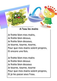 Se laver les mains : se débarasser des microbes Plus French Poems, Activities For 2 Year Olds, French Classroom, French Resources, French Teacher, Kids Board, Montessori Activities, French Lessons, Teaching Music