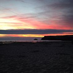 Polzeath last night... #summer #sun #sunset #polzeath #beach #stmoritzhotel #cornwall