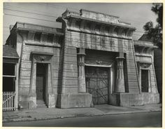 Egyptian Revival Police Station, Number One. Under a Transformed Egyptian Sun, Number One :: Clarence John Laughlin Photograph Collection