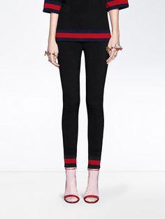 Gucci Stretch viscose legging with Web e1f3edc1c1