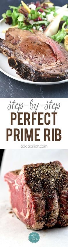 Perfect Prime Rib Recipe - Delicious dish that is a family favorite! Step by step instructions for this crave-worthy recipe! Beef Dishes, Tasty Dishes, Food Dishes, Food Food, Main Dishes, Rib Recipes, Cooking Recipes, Game Recipes, Cooking Time