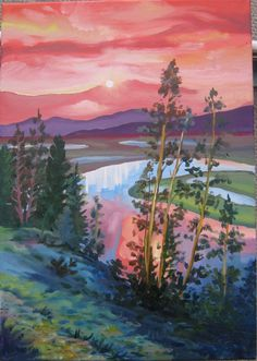 Yellowstone River in Hayden Valley by OnTheRiverSeim on Etsy, $200.00