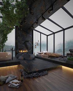 Loft Interior, Black Interior Design, Luxury Interior, Amazing Architecture, Architecture Design, Millionaire Homes, Mansion Designs, Mega Mansions, Luxury Mansions