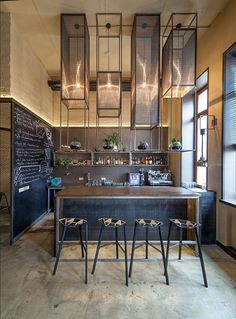 Whiskey Bar Location: Kiev, Ukraine Architect: Rina Lovko I chose this location because it is classy and exciting and fits my influencers style. Luxury Restaurant, Restaurant Lighting, Restaurant Design, Bar Interior, Best Interior Design, Commercial Design, Commercial Interiors, Café Bar, Bar Cart