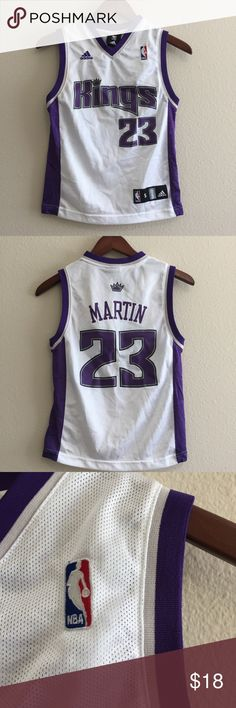 Adidas NBA Sacramento Kings Martin 23 Jersey Cheer on your favorite NBA team with this Adidas brand, Sacramento Kings Martin #23 jersey! Great condition. Measurements shown in pictures 💜 adidas Shirts & Tops Tank Tops