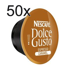 50 X Nescafe Dolce Gusto Coffee Capsules - Espresso Caramel Coffee Capsules >>> Find out more details @