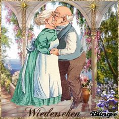 Ein fröhliches Wiedersehen Animated Pictures for Sharing Photo Zen, Photo D Art, Vieux Couples, Old Couples, Elderly Couples, Photo Humour, Cute Pictures, Beautiful Pictures, Animiertes Gif