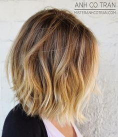 Great shoulder length ombré bob.
