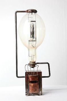 Industrial Steampunk Machine age lamp light handmade repurposed recycled